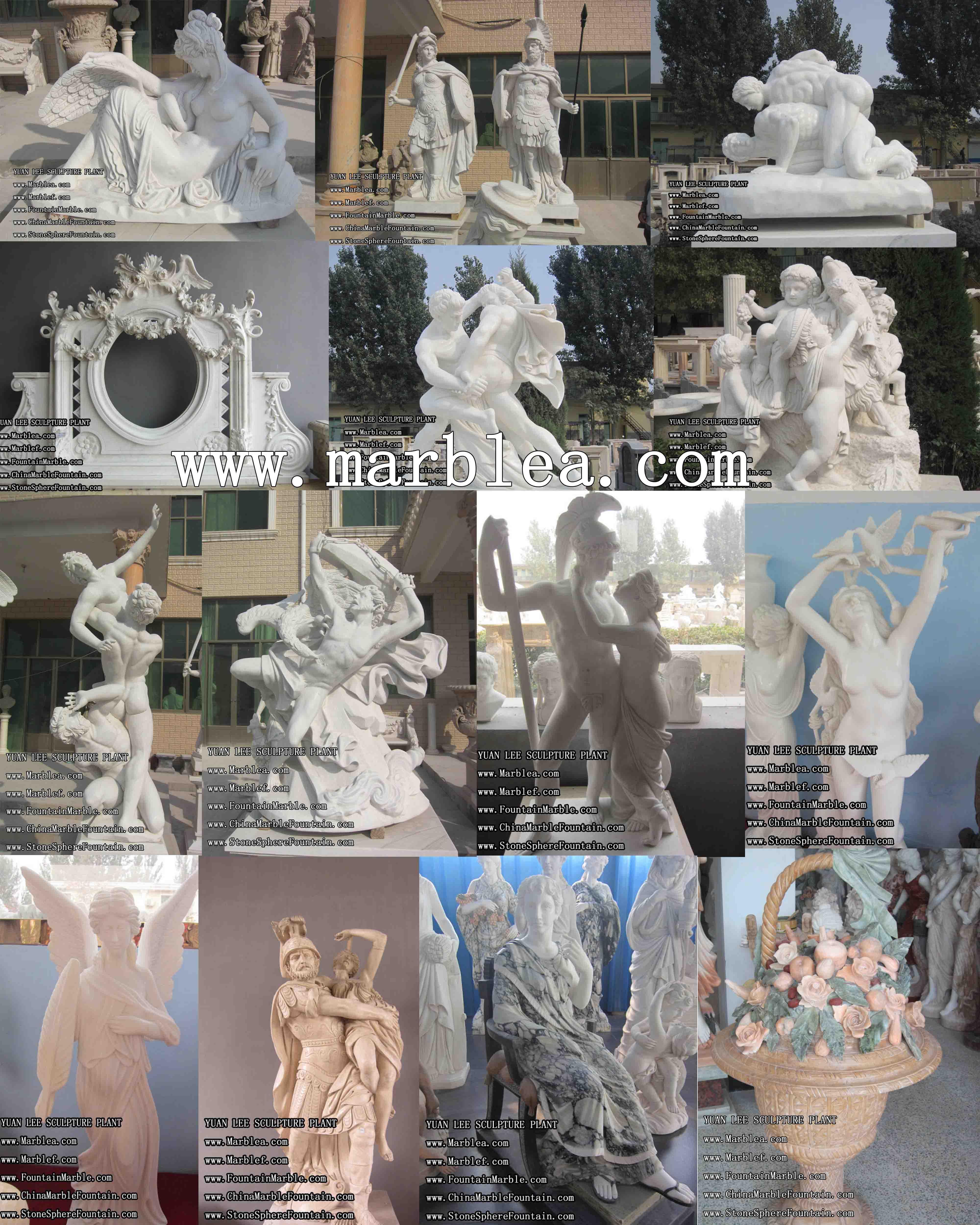 Italian marble statues - bronze statues, granite monument